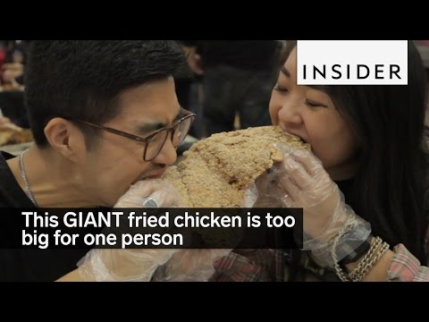 This GIANT fried chicken is too big for one person