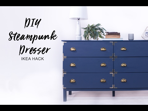 DIY Steampunk Dresser IKEA Hack