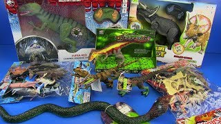 Dinosaurs Jurassic World & Box of toys Ocean World,Dinosaurs Collection ,Snake Toys Video for kids