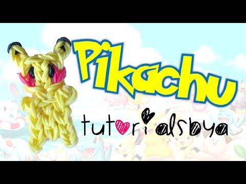 Pikachu Figurine/Charm Rainbow Loom Tutorial