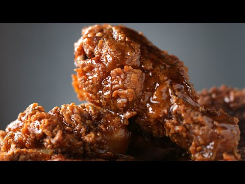 Crispy Honey-Glazed Fried Chicken