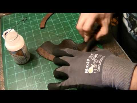 How to make a leather tomahawk cover and loop.  Part 2