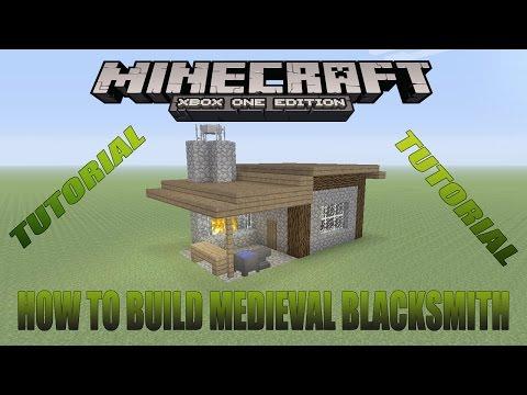 Minecraft Xbox Editon Tutorial How To Build Medieval Blacksmith