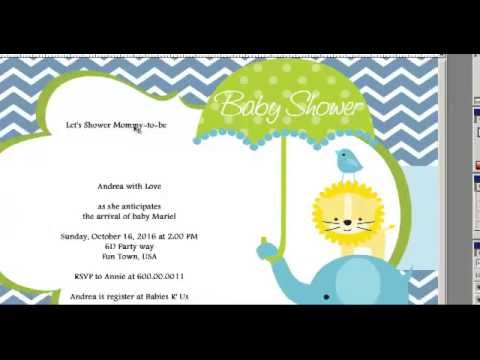 How to Make a Baby Shower Invitations Card For Girls And Boys