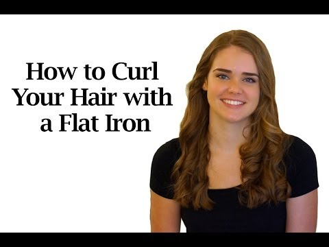 How to Curl Your Hair with a Flat Iron: Twist and Flip