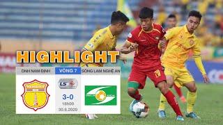 Highlights DNH Nam Định vs Sông Lam Nghệ An - Thành Nam bay cao trên đôi cánh của Đỗ Merlo