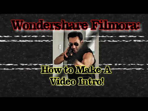 WonderShare Filmora: How to Make Simple Video Intro   for YouTube Channel