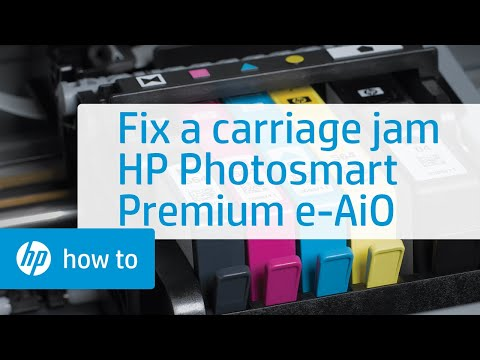 Fixing a Carriage Jam - HP Photosmart Premium e-All-in-One Printer (C310a)