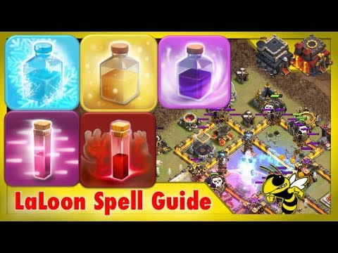 Spell Guide for LaLoon Attacks - How to Use the Rage, Freeze, Heal, etc