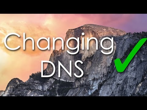 How to change DNS (Mac Os X Yosemite)
