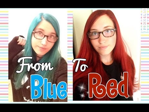 Dying My Hair From Blue To Red Without Bleach