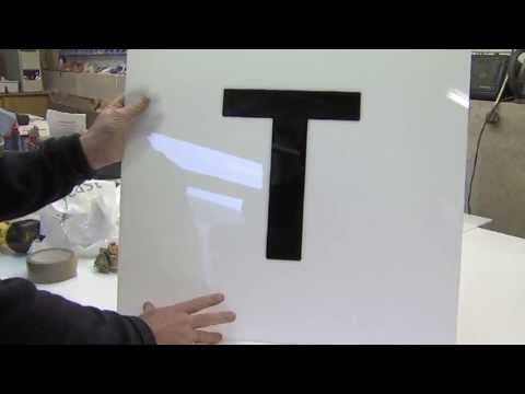 Amari Plastics - guide to cutting letters from acrylic sheet