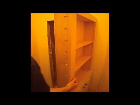 Bookcase Hidden Door Plans (outswing) by Master Cabinet Maker.wmv