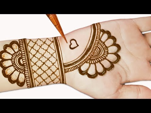 Easy Mehndi Designs For Front Hands Simple Henna Designs