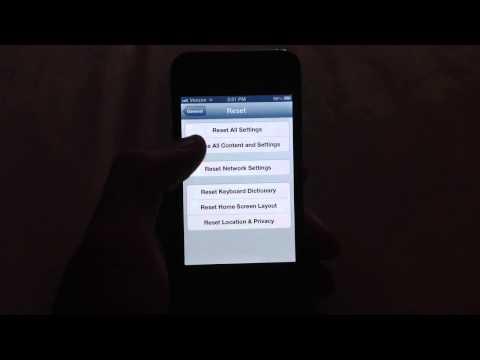 iPhone 4 Verizon factory reset