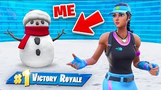 being a snowman all game...