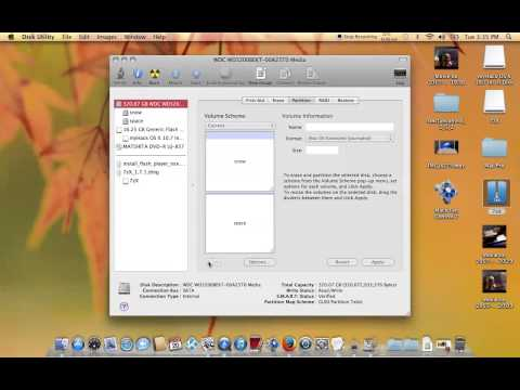 MAC OS X : HOW TO CREATE A EXTRA PARTITION ON YOUR RUNNING MAC HARDDRIVE - 2015