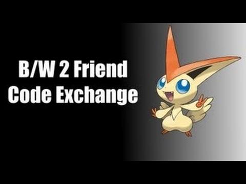 Pokemon Black and White 2 Friend Code Exchange