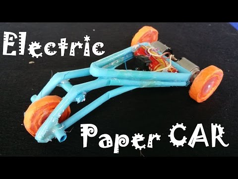 How to make a electric Car using Paper | Creative Toy