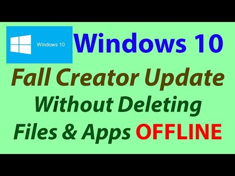 Windows 10 fall creators update Without Loosing any Data - OFFLINE | Som Tips