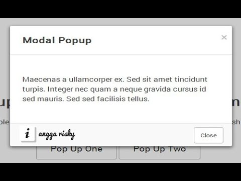 Animation popup modal in HTML5, CSS3, and jQuery Tutorial