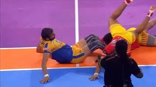 Tamil Thalaivas   Kabaddi   Ajay Thakur winning moment with Gujarat