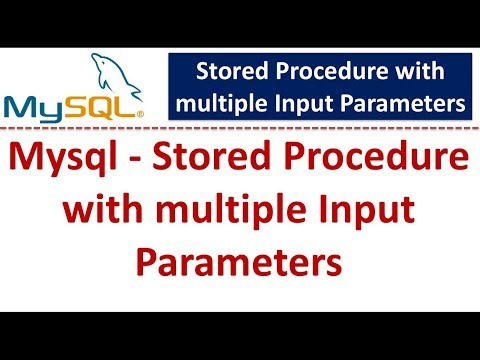 Mysql - Stored Procedure with multiple Input Parameters