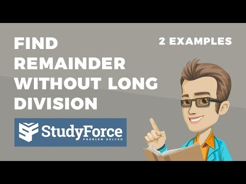 📚 How to find the remainder of a number without using long division