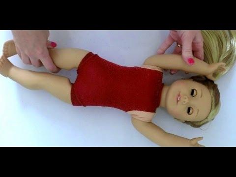 DIY American Girl Doll Gymnastics Leotard
