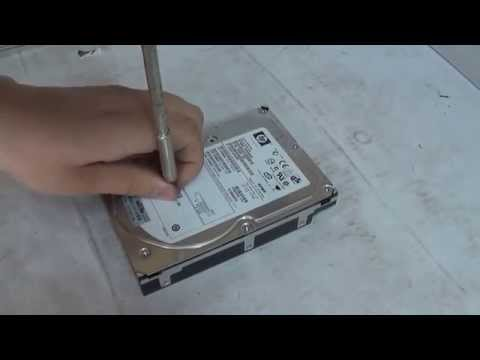 computer recycling - How to wipe a hard drive with only a screw driver