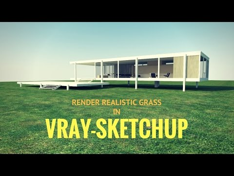 How To Render A Realistic Grass In Vray-Sketchup