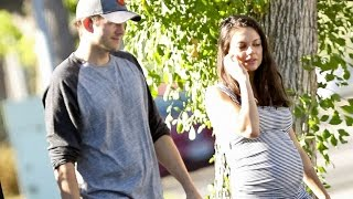 Mila Kunis Has That Pregnancy Glow as She Steps Out With Hubby Ashton Kutcher