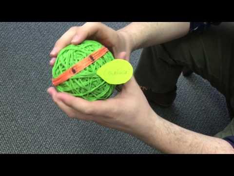 Rubber band ball ninja turtle