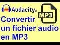 Comment Convertir Un Fichier Audio Audacity Data En Mp3wav