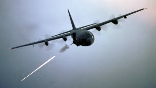 """""""Angel of Death"""" AC-130 Gunship in Action / Firing All Its Cannons - Live Fire Range"""