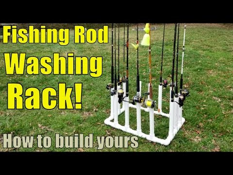 Fishing Rod Cleaning Rack