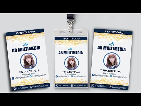 Photoshop Tutorial:How to Create ID Card Design in Photoshop cc 2017|ID Card With Mock up Design