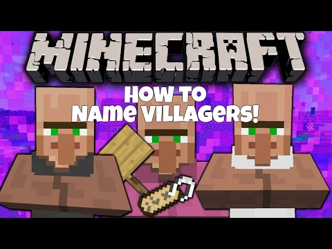 Minecraft Xbox / PS - TU64 - How To Name Villagers! - TUTORIAL - NEW + WORKING (TU64)