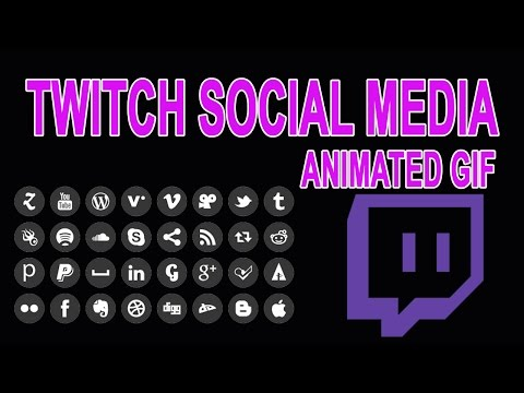 How To Add Social Media Animated Gif For Twitch Tutorial In Obs