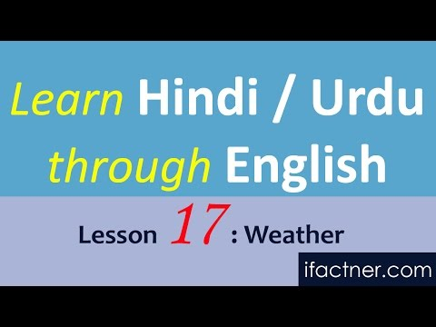 Learn Urdu through English language online Hindi, Weather 17
