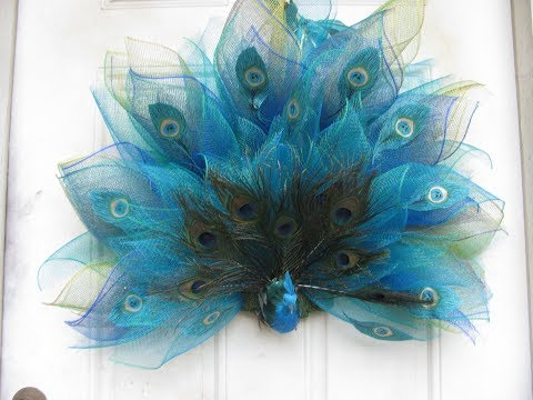 1 of 3 How To Make Carmen's, Fancy Peacock Wreath