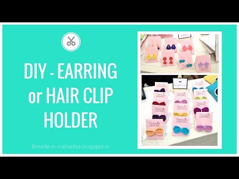 DIY EARRING or HAIR CLIP DISPLAY CARD FOR CRAFT FAIR