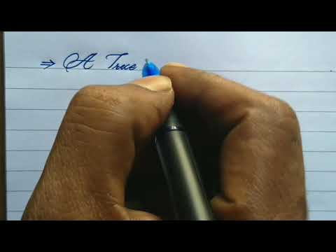 How to write Good handwriting with gel pen l cursive handwriting