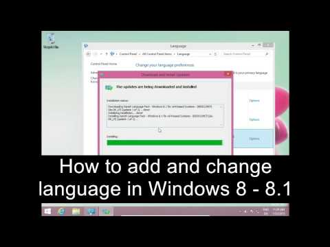 How to add and change language Windows 8 - 8.1