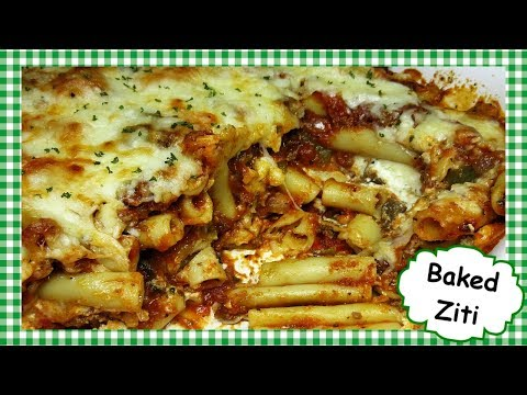 Cheesy Baked Ziti Casserole Recipe ~ How to Make Baked Ziti Pasta