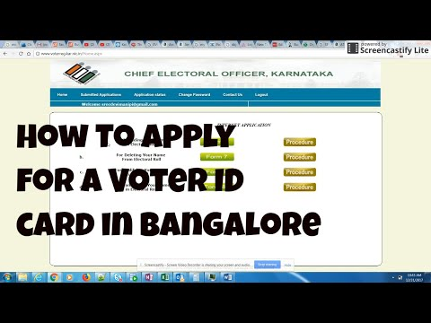 How to apply for a voter id card in Bangalore - procedure for new card only