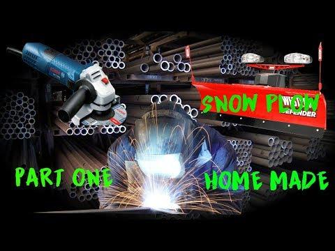 Building snow plow for atv , all handmade part 1