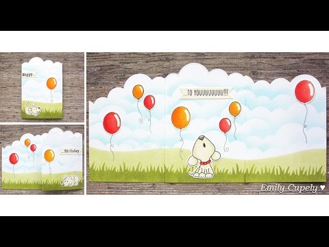 Tri-Fold Card + Stenciling | Birthday