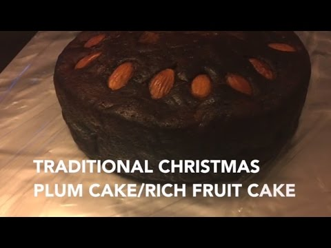 Traditional Christmas Cake/Plum Cake/Rich Fruit Cake