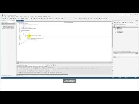 Visual Studio C# Tutorial for Beginners EP01 -  First Steps Hello World Console App